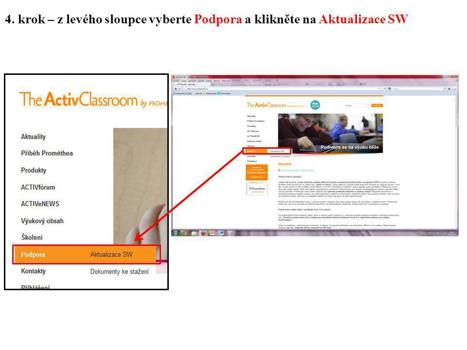 5. krok – klikněte na internetový odkaz v horní části www.prometheanplanet.com