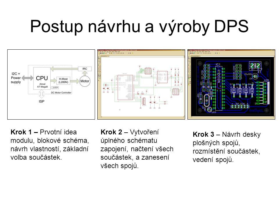 Postup návrhu a výroby DPS Krok 4 – Vizualizace ve 3D prostředí, ověření rozměrové kompatibility a kontrola rozmístění součástek.