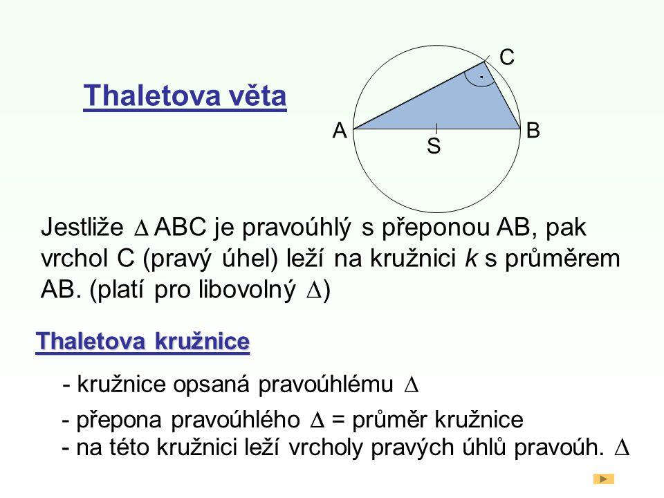 Thaletova věta S AB C.