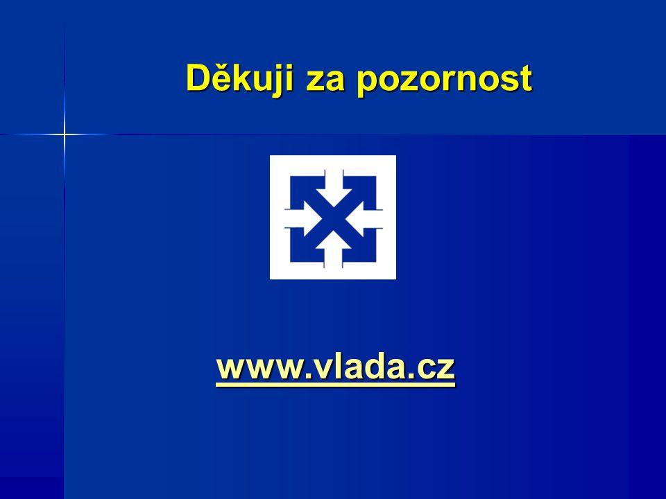Děkuji za pozornost www.vlada.cz