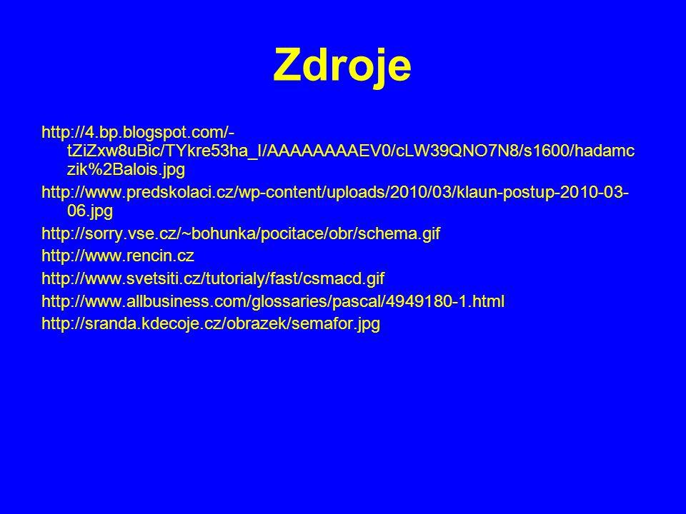 Zdroje http://4.bp.blogspot.com/- tZiZxw8uBic/TYkre53ha_I/AAAAAAAAEV0/cLW39QNO7N8/s1600/hadamc zik%2Balois.jpg http://www.predskolaci.cz/wp-content/up