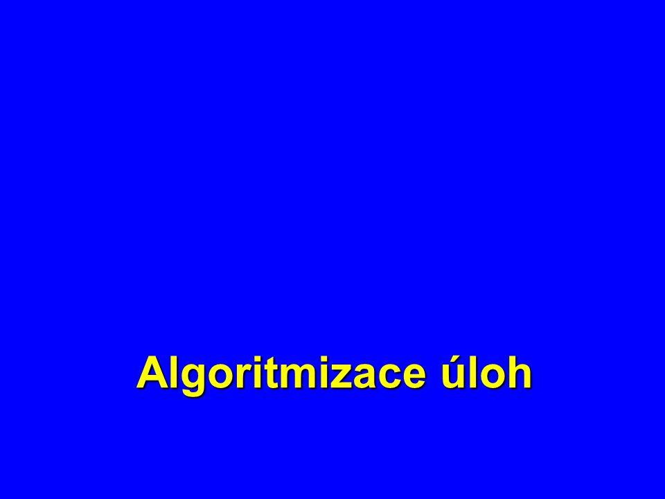 Etapy tvorby algoritmu 1.Přesná formulace úlohy 2.