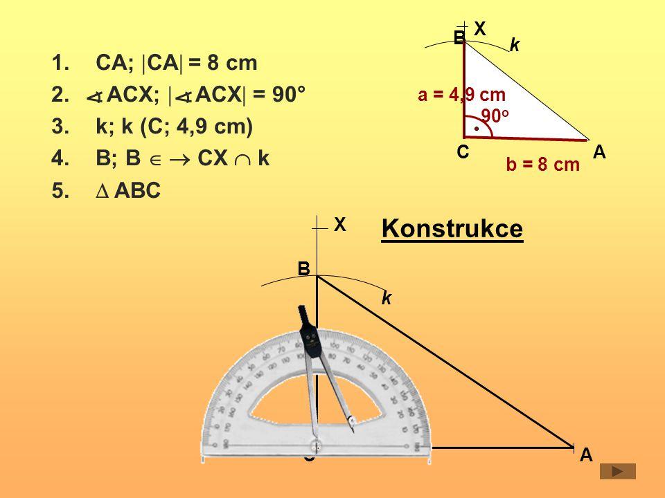 Narýsuj rovnoramenný trojúhelník MNO, kde |MO|= |NO| = 5 cm, | MON|= 40 o Rozbor 5 cm M O 40 o N X k Postup 1.OM;  OM  = 5 cm 2.