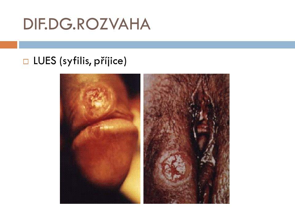DIF.DG.ROZVAHA  LUES (syfilis, příjice)