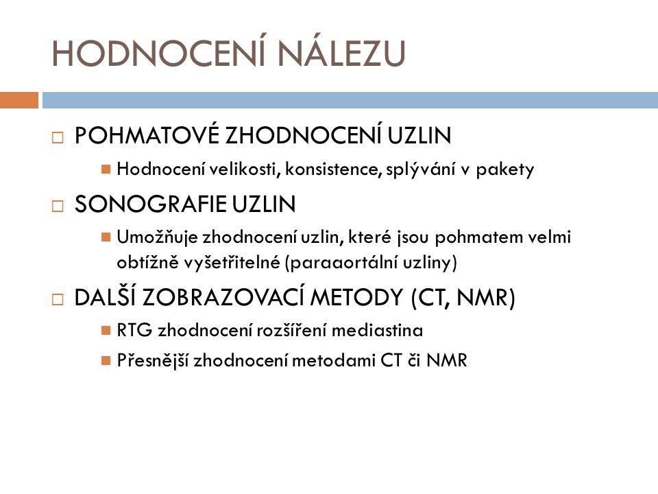 RTG hrudníku (rozšíření mediastina) NORMÁLNÍ NÁLEZROZŠÍŘENÉ MEDIASTINUM