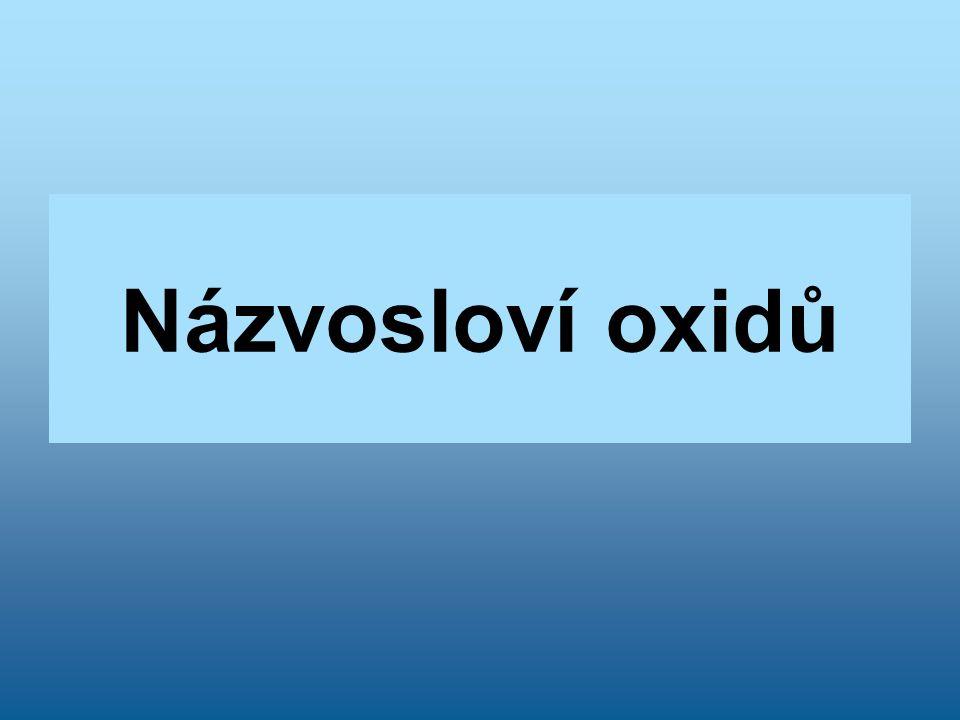 Názvosloví oxidů