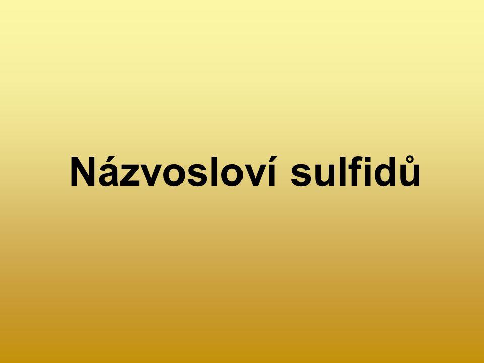 Názvosloví sulfidů