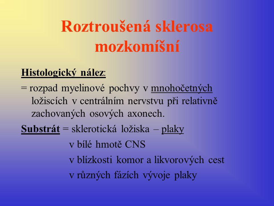 Diagnostický postup I.Anamnesa a klinické neurologické vyšetření: 5 typů onemocnění: 1/ cerebrospinální forma 2/ spinální forma 3/ mozečkově kmenová forma 4/ diencephalická …vzácná forma 5/ polyneuritická ….vzácná forma