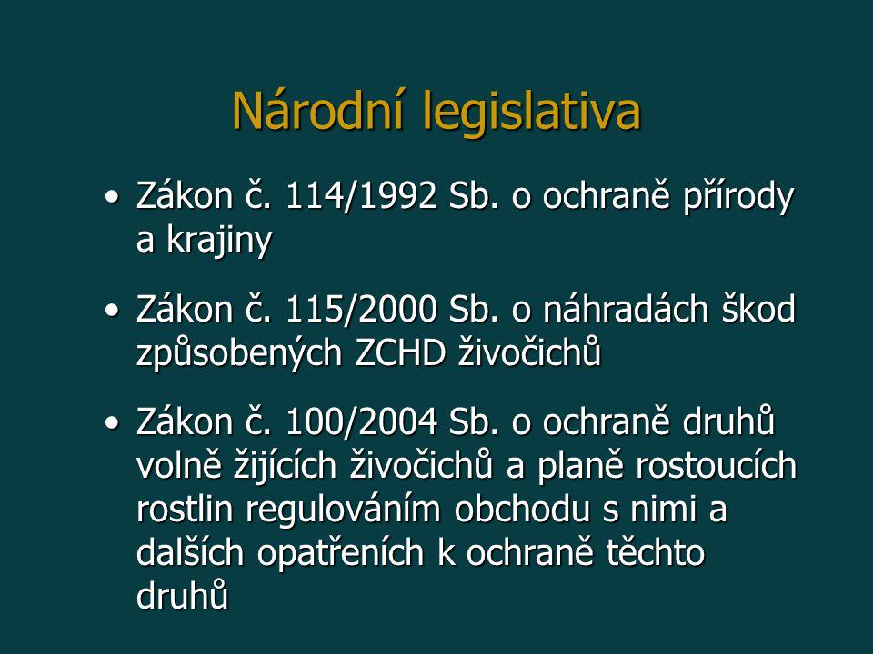 Zákon č.114/1992 Sb. o ochraně přírody a krajinyZákon č.