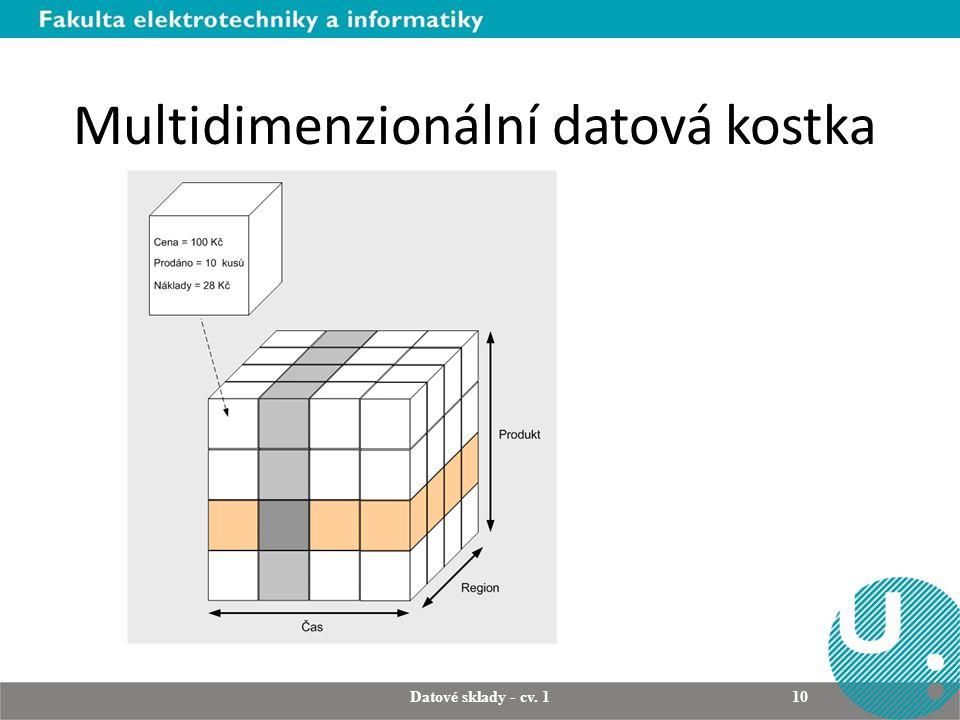 Multidimenzionální datová kostka Datové sklady - cv. 1 10