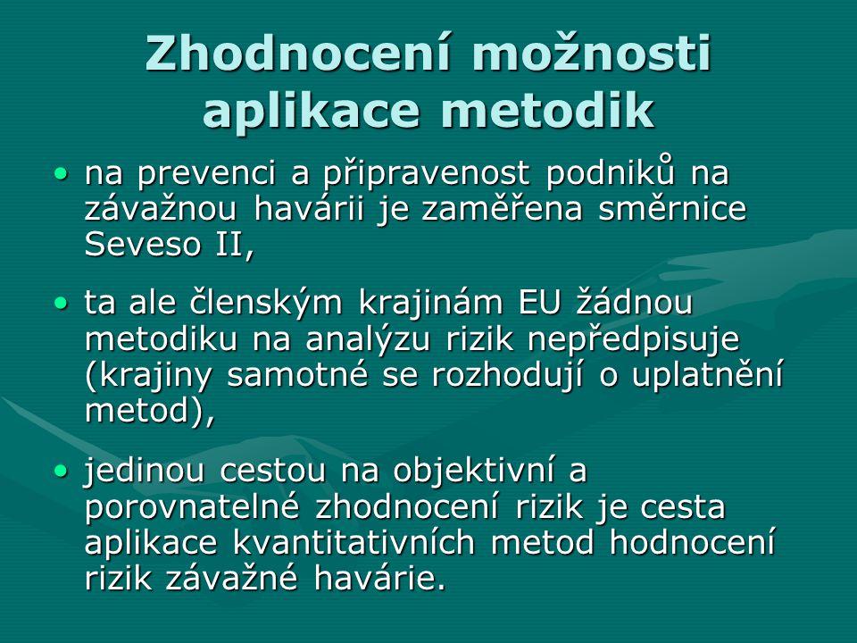 Zhodnocení možnosti aplikace metodik na prevenci a připravenost podniků na závažnou havárii je zaměřena směrnice Seveso II,na prevenci a připravenost