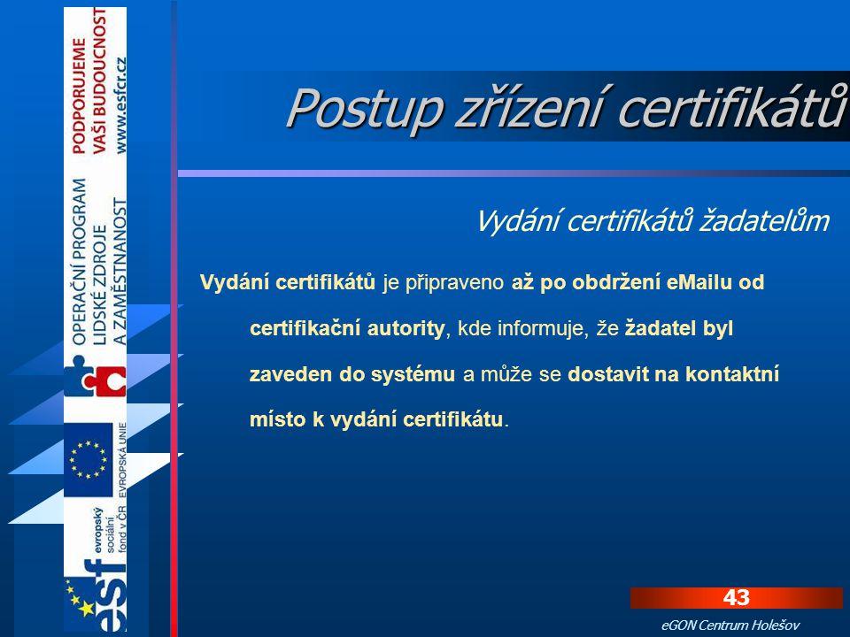 Ruční postup instalace certifikátů