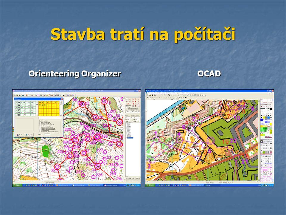 Stavba tratí na počítači Orienteering Organizer OCAD