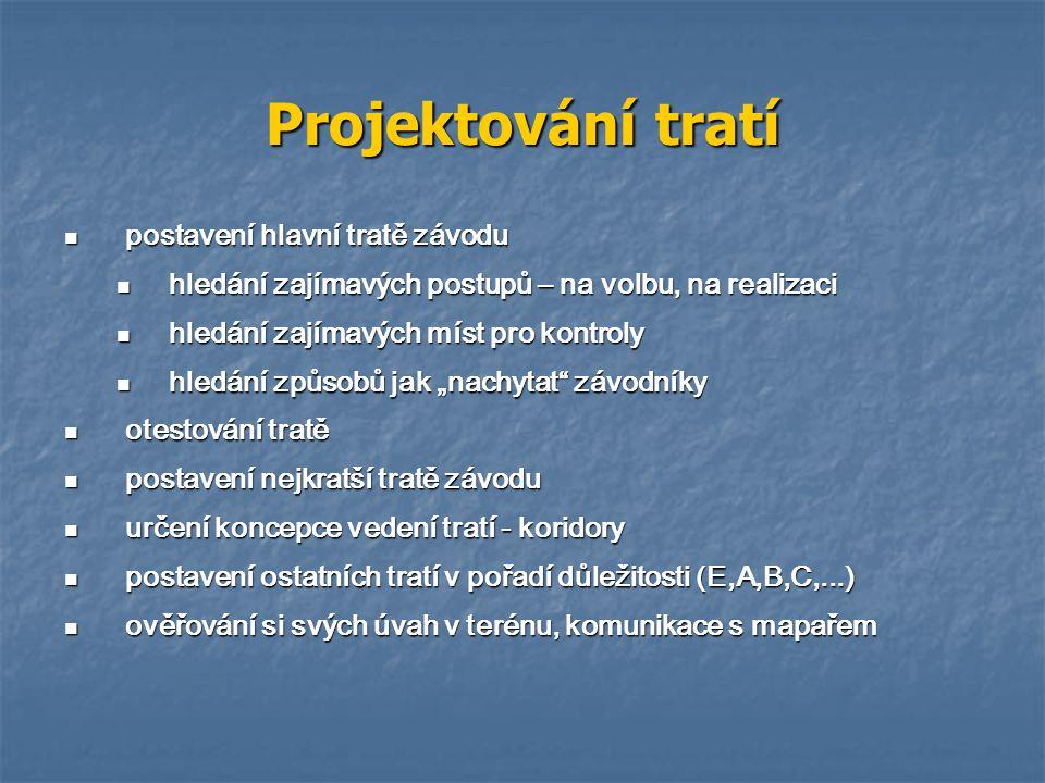 Koridory MČR štafet a klubů 2005