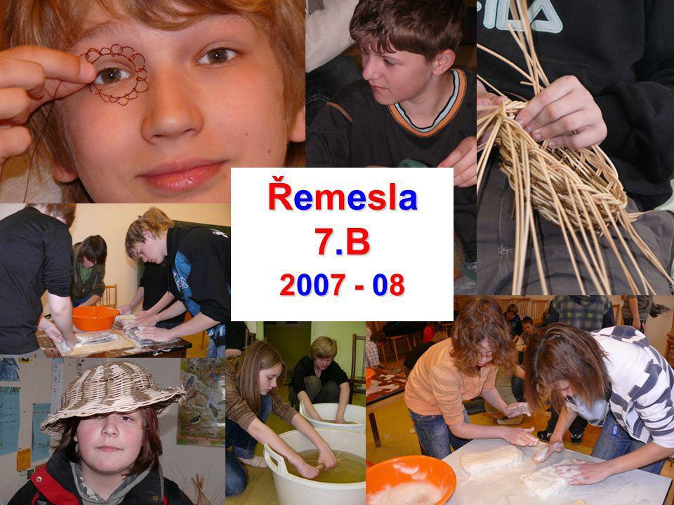 Řemesla 7.B 2007 - 08