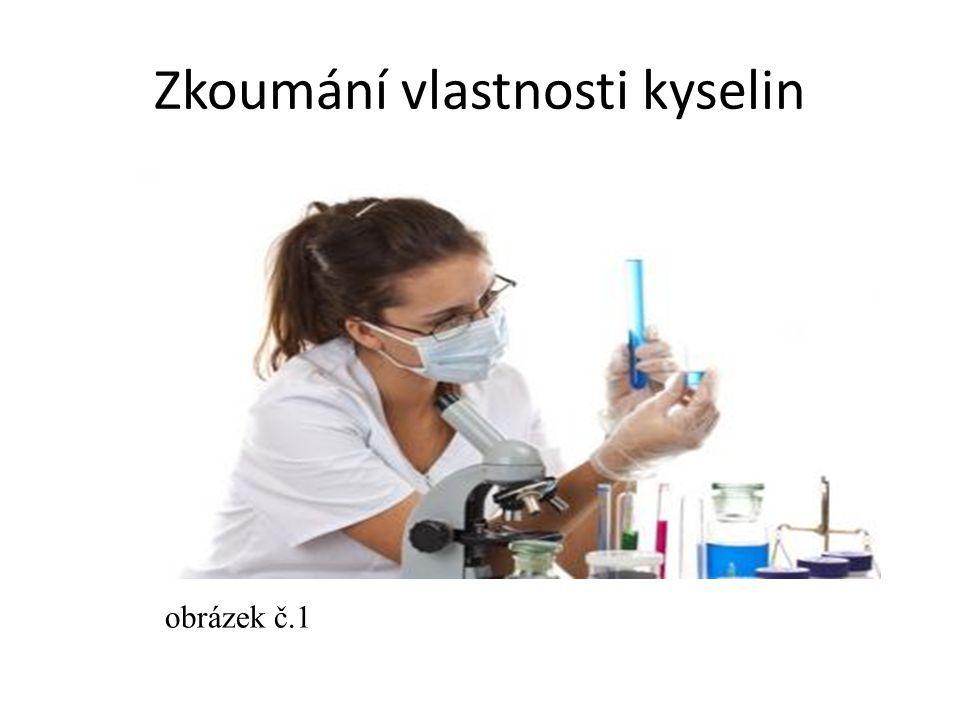 Zkoumání vlastnosti kyselin obrázek č.1