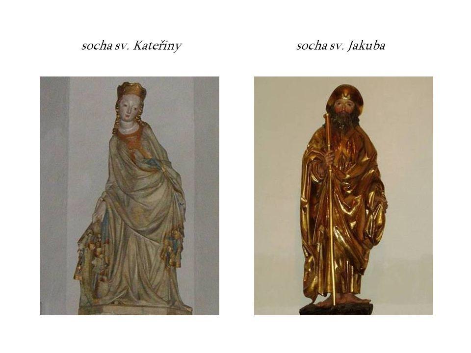 socha sv. Kateřinysocha sv. Jakuba
