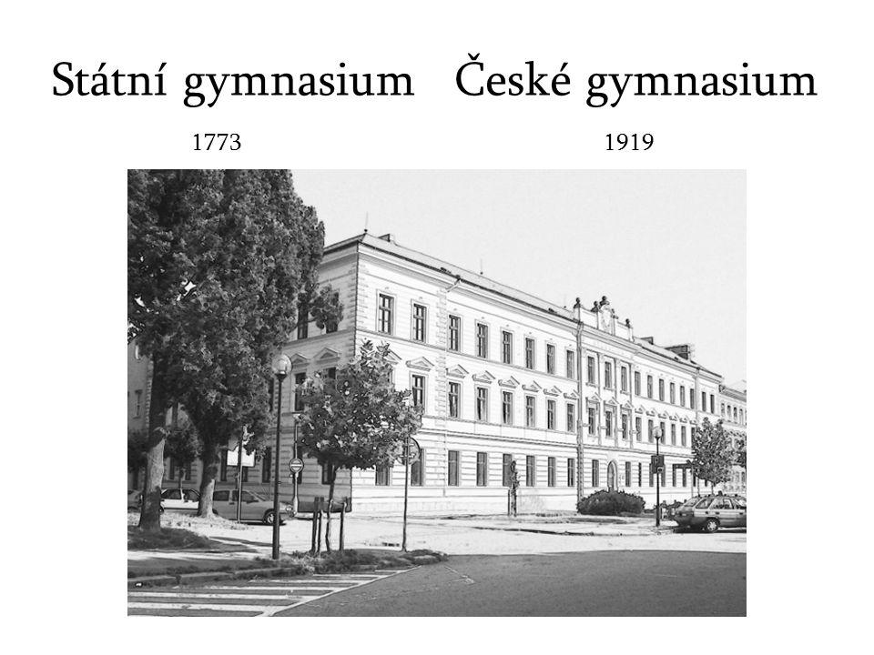 Státní gymnasium 17731919 České gymnasium