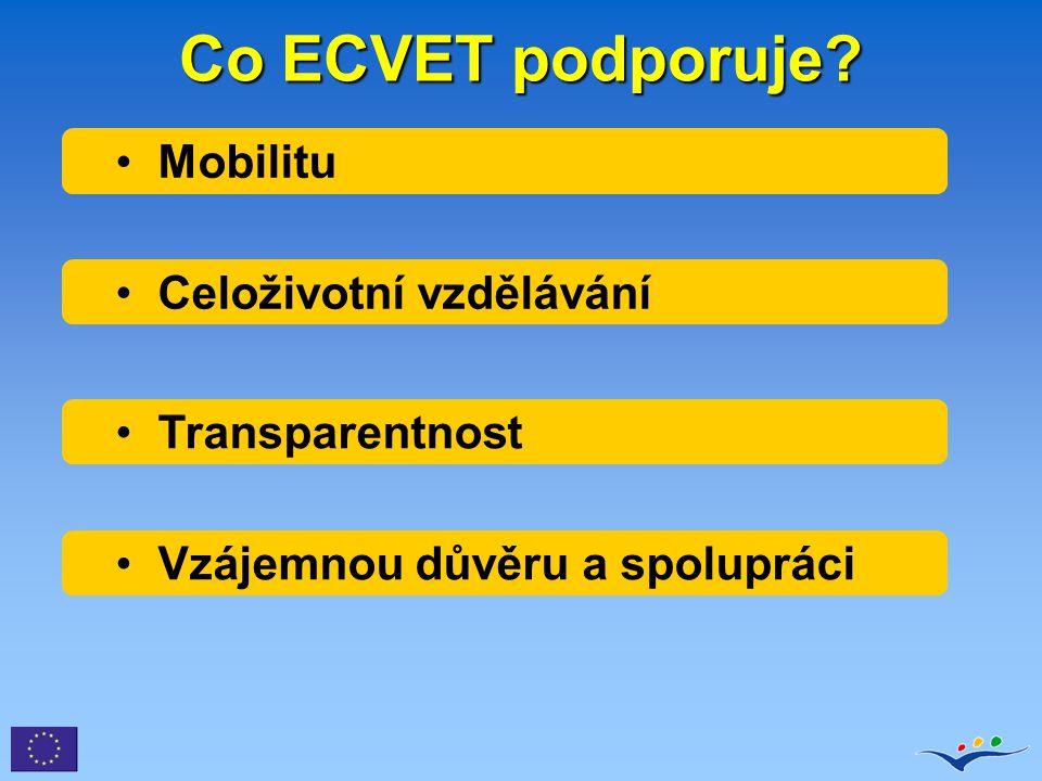 ERK : hlavní součásti 8 úrovní Kreditní systémy (ECTS, ECVET)
