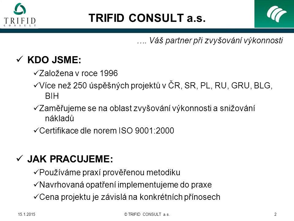 15.1.2015© TRIFID CONSULT a.s.2 TRIFID CONSULT a.s.