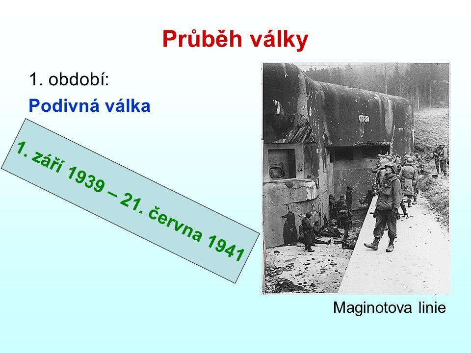 Průběh války 1. období: Podivná válka Maginotova linie 1. září 1939 – 21. června 1941