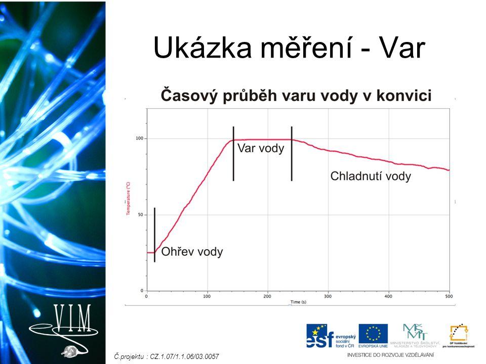 Č.projektu : CZ.1.07/1.1.06/03.0057 Ukázka měření - Var