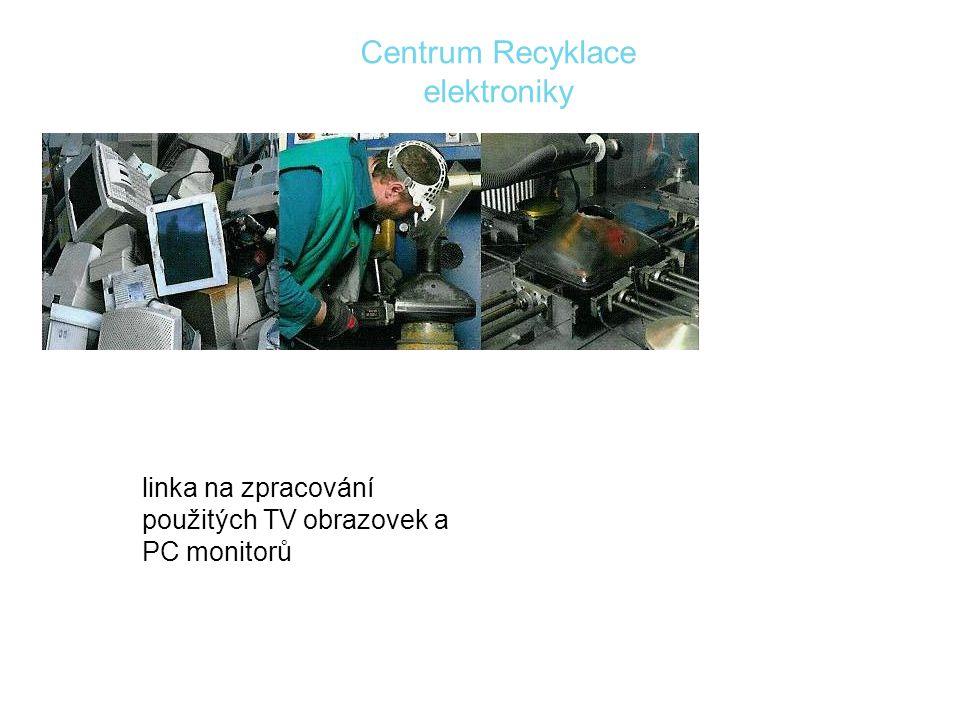 linka na zpracování použitých TV obrazovek a PC monitorů Centrum Recyklace elektroniky