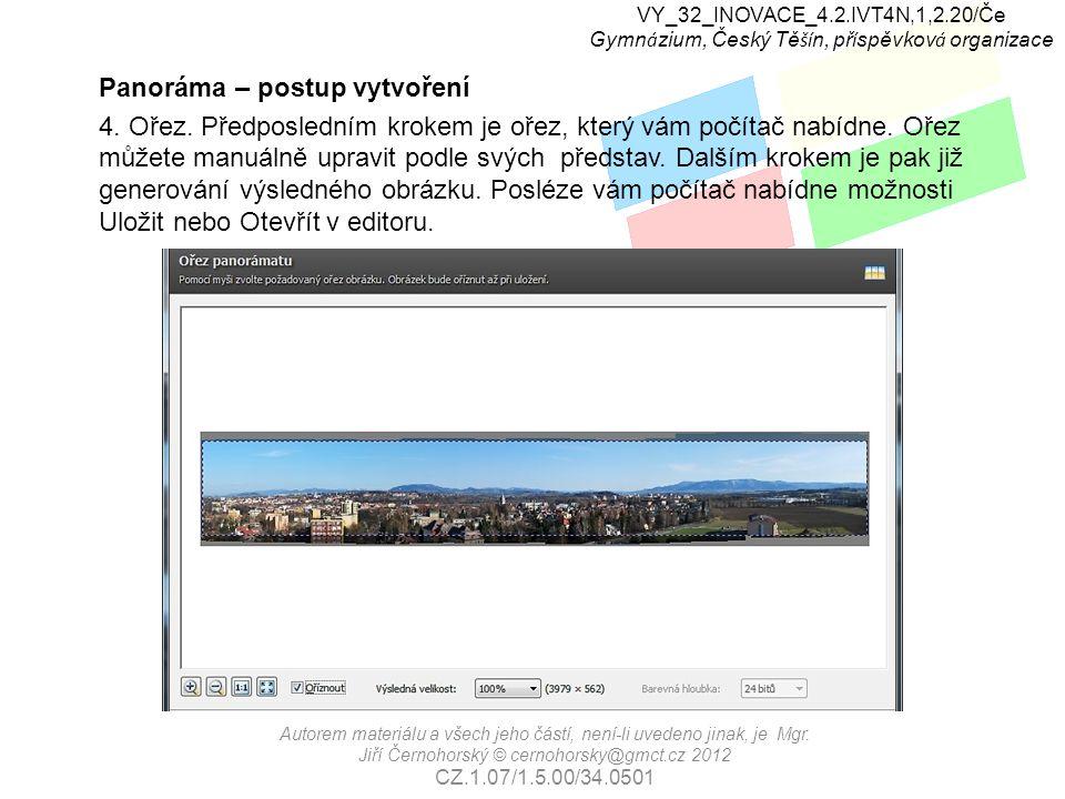 VY_32_INOVACE_4.2.IVT4N,1,2.20/Če Gymn á zium, Český Tě ší n, př í spěvkov á organizace Autorem materiálu a všech jeho částí, není-li uvedeno jinak, j