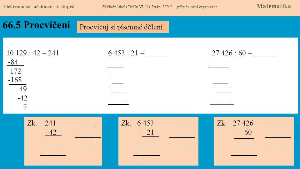 66.5 Procvičení Elektronická učebnice - I.