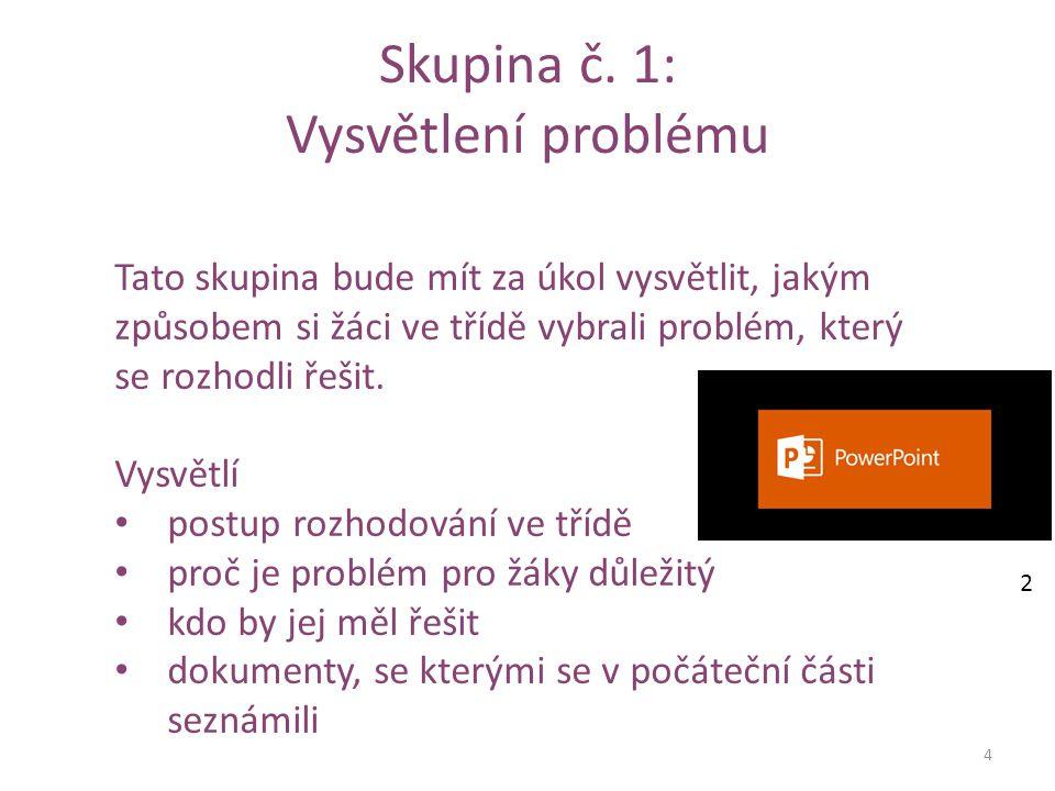 1.část prezentace by měla obsahovat: 5 1.Stručný popis problému Objasněte daný problém.