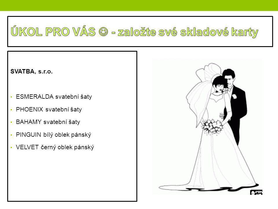 SVATBA, s.r.o. ESMERALDA svatební šaty PHOENIX svatební šaty BAHAMY svatební šaty PINGUIN bílý oblek pánský VELVET černý oblek pánský