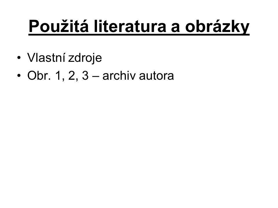 Použitá literatura a obrázky Vlastní zdroje Obr. 1, 2, 3 – archiv autora
