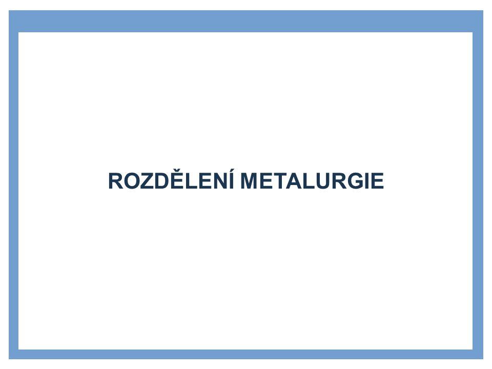 ROZDĚLENÍ METALURGIE