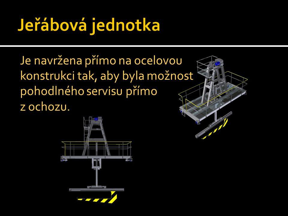 Pojezd po konstrukci je zajištěnelektromotorem a převodovkou na hnané kolo.
