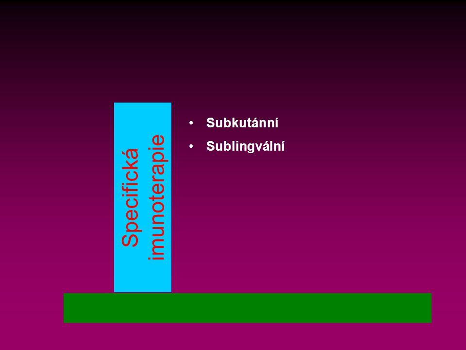 Specifická imunoterapie Subkutánní Sublingvální