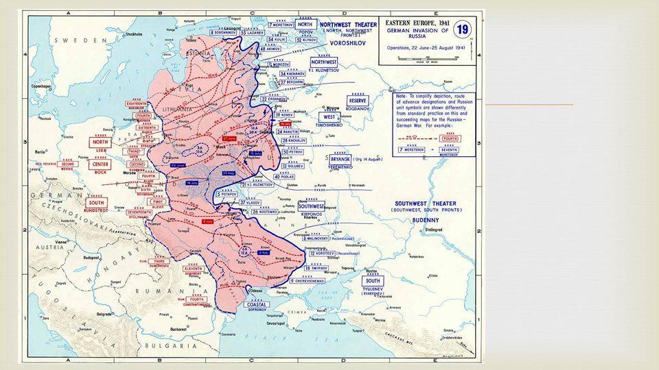 Operace Barbarossa mapa útoku na SSSR