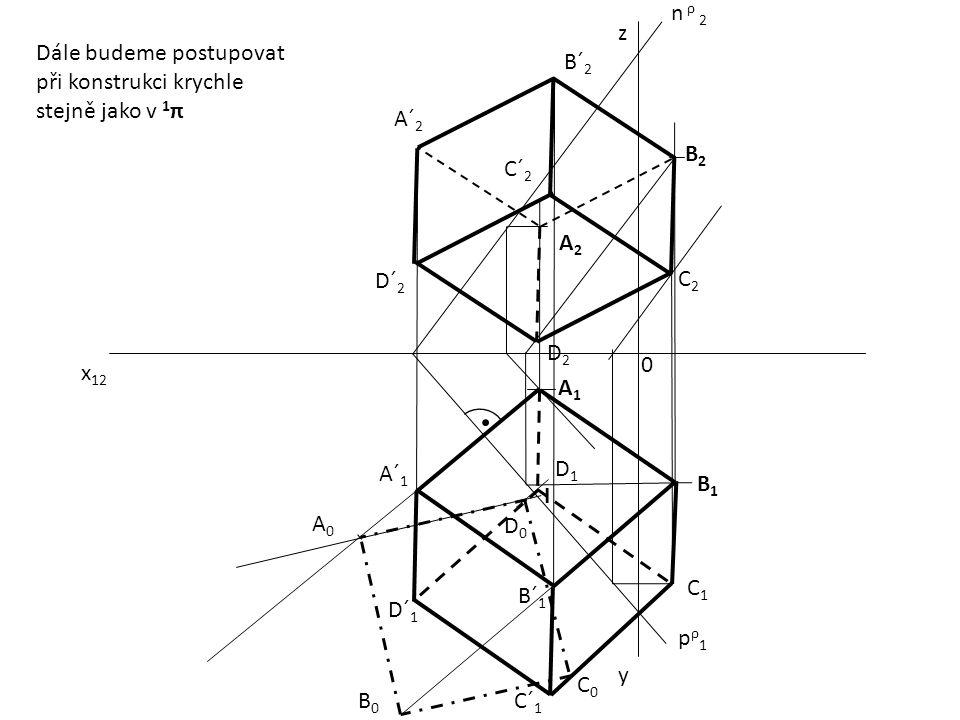 x 12 0 z y pρ1pρ1 n ρ 2 A1A1 B2B2 A2A2 B1B1 A´ 1 B´ 1 A´ 2 B´ 2 A0A0 B0B0 D0D0 C0C0 I D1D1 C1C1 C´ 1 D´ 1 C2C2 Dále budeme postupovat při konstrukci k
