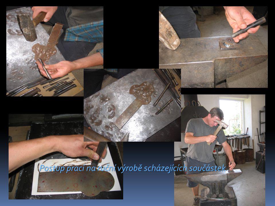 Postup prací na ruční výrobě scházejících součástek Postup prací na ruční výrobě scházejících součástek.