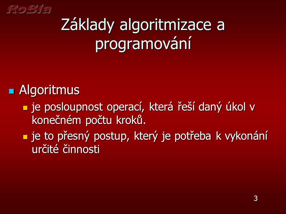 Program Program je zápis algoritmu pomocí příkazů programovacího jazyka Program je zápis algoritmu pomocí příkazů programovacího jazyka