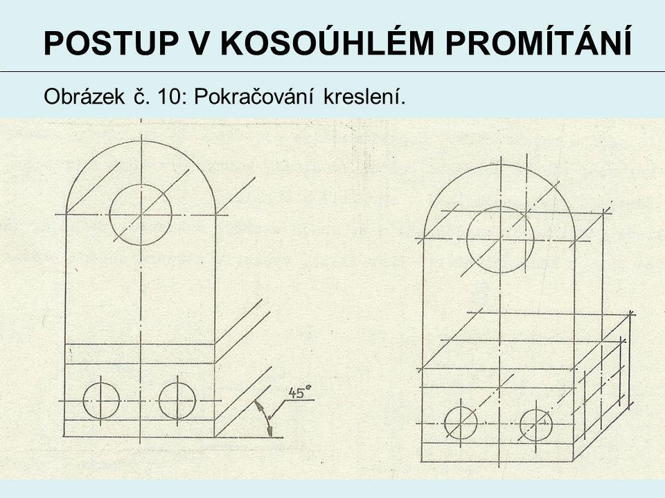 12 POSTUP V KOSOÚHLÉM PROMÍTÁNÍ Obrázek č. 10: Pokračování kreslení.