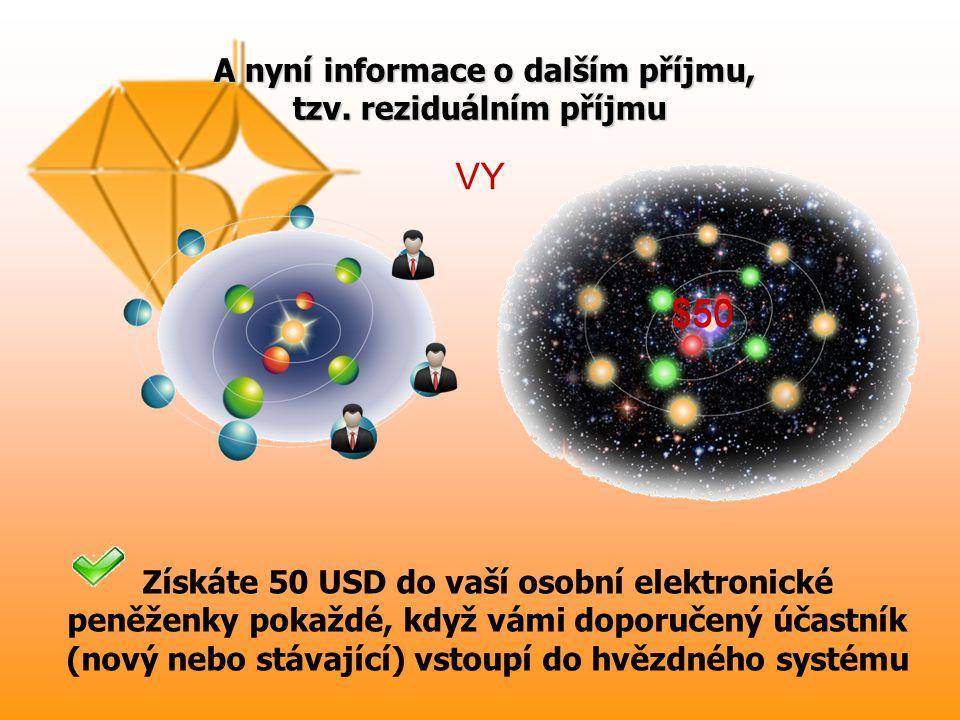 A nyní informace o dalším příjmu, tzv.