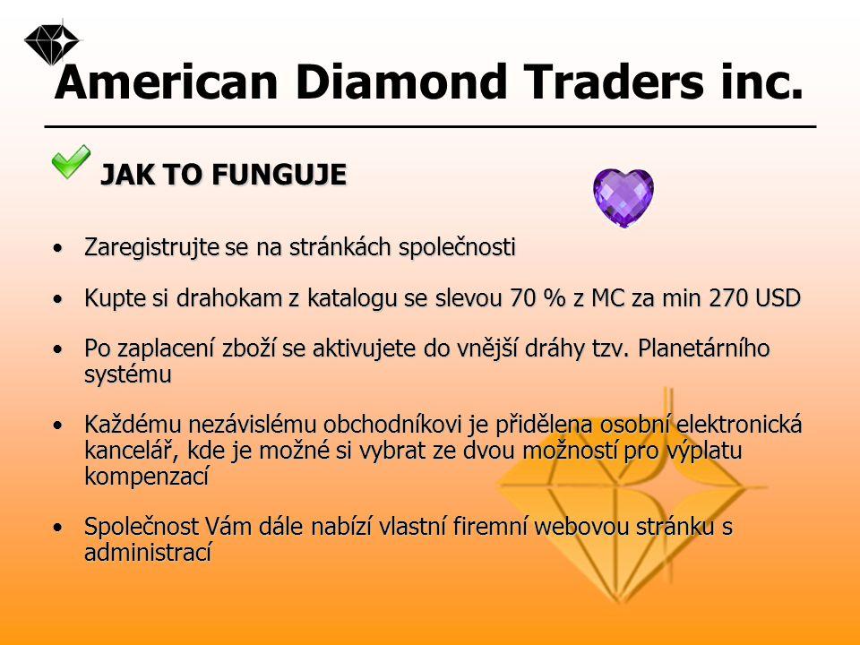 American Diamond Traders inc. VZORKY PRODUKTŮ