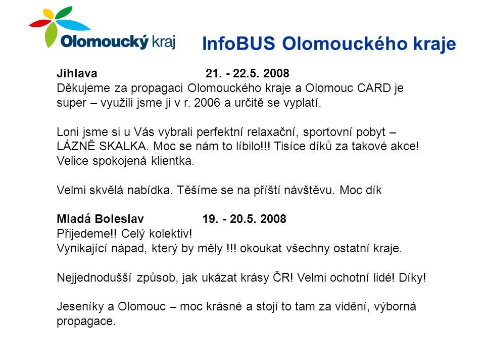 InfoBUS Olomouckého kraje Jihlava 21. - 22.5.