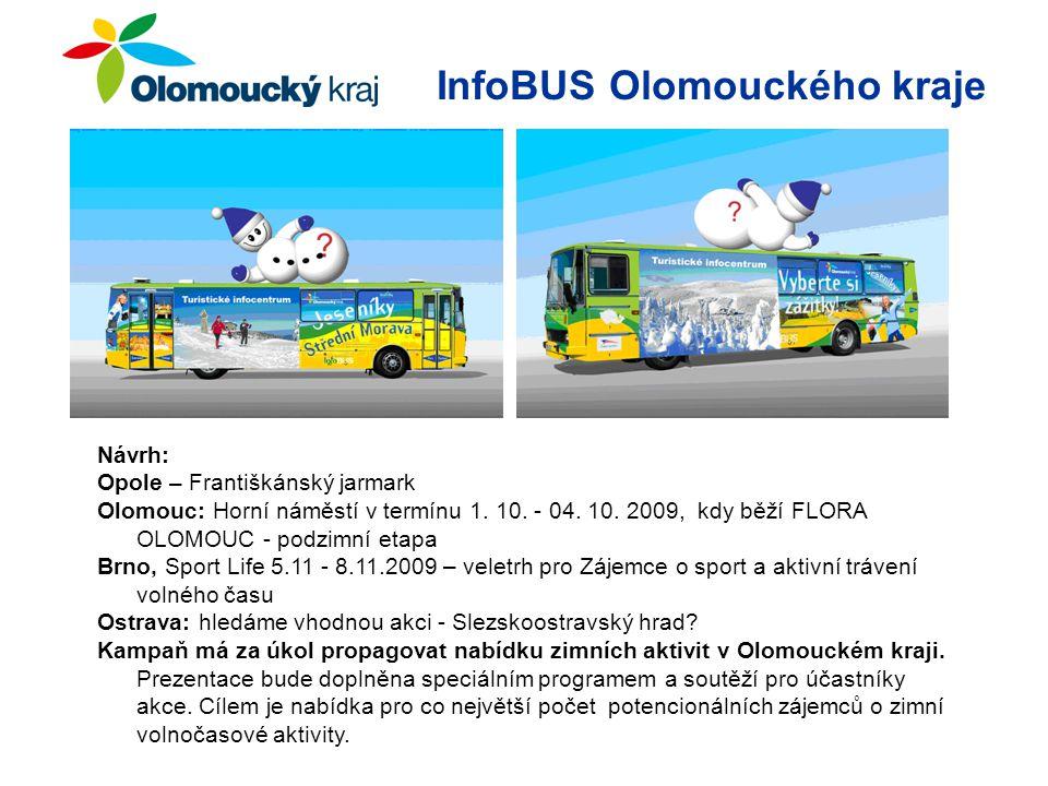 InfoBUS Olomouckého kraje Návrh: Opole – Františkánský jarmark Olomouc: Horní náměstí v termínu 1.
