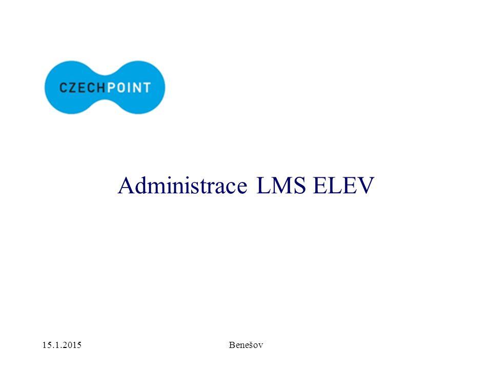 15.1.2015Benešov Administrace LMS ELEV