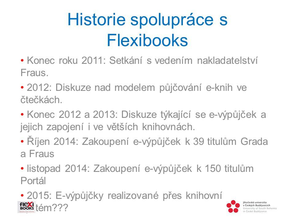 Historie spolupráce s Flexibooks Konec roku 2011: Setkání s vedením nakladatelství Fraus.