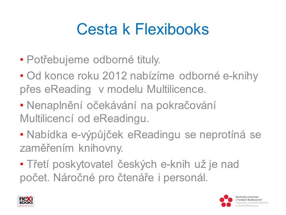 Cesta k Flexibooks Potřebujeme odborné tituly.
