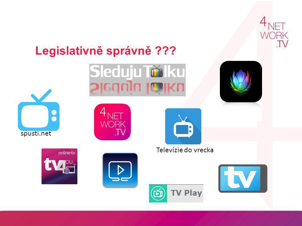 Legislativně správně ??? spusti.net Televízie do vrecka