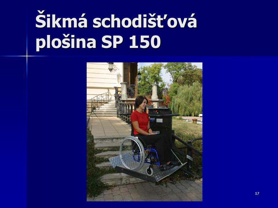 17 Šikmá schodišťová plošina SP 150