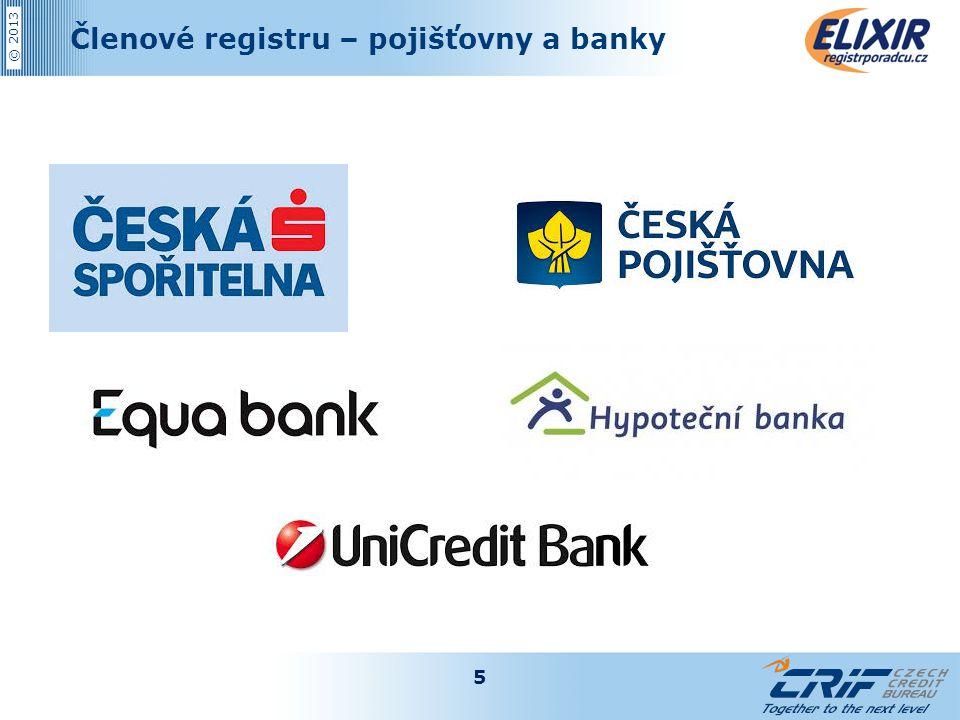 © 2013 Členové registru – pojišťovny a banky 5